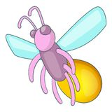 Firefly icon, cartoon style. Firefly icon. Cartoon illustration of firefly vector icon for web design Stock Image