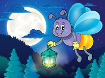 Firefly with lantern theme image 2. Eps10 vector illustration Royalty Free Stock Photo