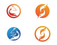 Firefox animals logo and symbols template app icons.  Royalty Free Stock Photos