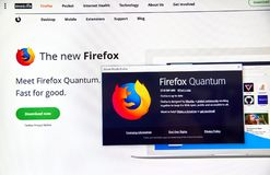 Firefox Quantum web page. royalty free stock images