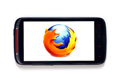 Firefox smartphone stock images