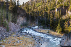 Firehloe River Canyon in Fall Stock Images