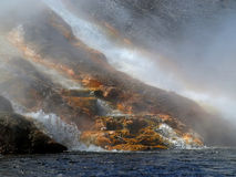 firehole河 免版税图库摄影