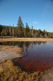 Firehole Lake in Yellowstone Royalty Free Stock Images