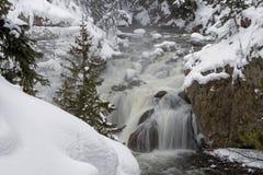 Firehole river falls Stock Image
