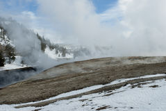 Firehole River, Midway Geyser Basin, Yellowstone NP Royalty Free Stock Photo