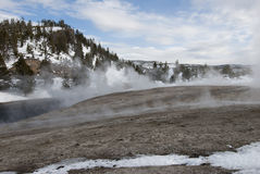 Firehole River, Midway Geyser Basin, Yellowstone NP Stock Photo