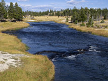Firehole River in Pocket Basin Stock Image