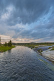 Firehole River after Sunset Yellowstone Stock Image