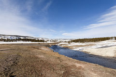 Firehole River, Upper Geyser Basin, Yellowstone NP Royalty Free Stock Photos