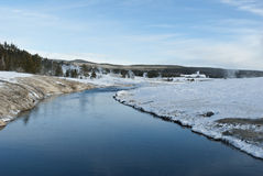 Firehole River, Winter, Yellowstone NP Stock Photography
