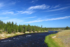 Firehole River of Yellowstone Stock Images