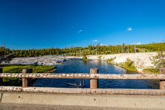 Firehole River, Yellowstone National Park, Wyoming. Firehole River in Yellowstone National Park, Wyoming, USA Royalty Free Stock Image