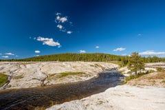 Fireholerivier, het Nationale Park van Yellowstone, Wyoming Stock Foto