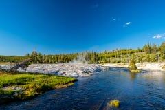 Fireholerivier, het Nationale Park van Yellowstone, Wyoming Royalty-vrije Stock Afbeelding