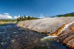 Fireholerivier, het Nationale Park van Yellowstone, Wyoming Royalty-vrije Stock Foto's