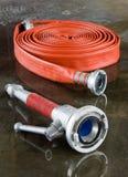 Firehose und Düse Lizenzfreies Stockbild