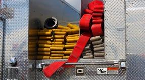 Firehoses dalla parte posteriore immagine stock libera da diritti