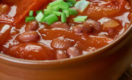 Firehouse Chili. Stew of beans Royalty Free Stock Images