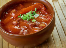 Firehouse Chili. Stew of beans. close up Royalty Free Stock Photos
