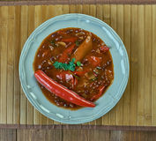 Firehouse Chili. Winter recipe stew of beans Stock Image