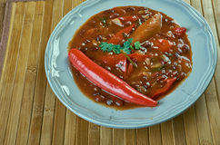 Firehouse Chili. Winter recipe stew of beans Stock Photo
