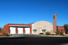 FIREHOUSE. Clark County Nevada fire station station 38's firehouse Stock Photo