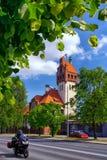 Firehouse de bouw in Riga stock afbeelding