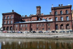 firehouse Der Griboyedov-Kanaldamm in StPetersburg Stockfotos