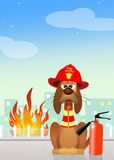 Firehouse Dog Royalty Free Stock Images