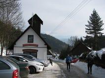 Firehouse in einem kleinen Dorf lizenzfreie stockfotografie