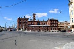 firehouse Le remblai de canal de Griboyedov dans StPetersburg images libres de droits