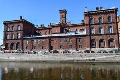 firehouse Le remblai de canal de Griboyedov dans StPetersburg photos stock