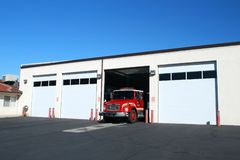 Firehouse In Mesquite Nevada stock photography