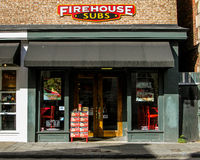 Firehouse Subs, King Street, Charleston, SC. Royalty Free Stock Image