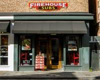 Firehouse Subs, Koning Street, Charleston, Sc royalty-vrije stock afbeelding
