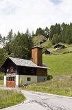 Firehouse in village of Apriach, Austria Stock Photos