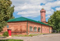 Firehouse. With a watch-tower in the old town of Simbirsk Royalty Free Stock Photos