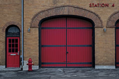 Firehousestation fyra Royaltyfri Foto