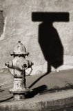 firehydrant葡萄酒 图库摄影