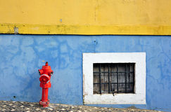Firehydrant and window Royalty Free Stock Image
