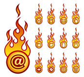 Fireicons computer theme Stock Photos