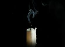 Fireless candle on black background Stock Photos