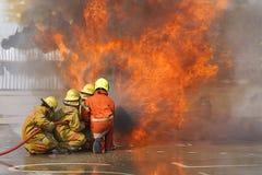 fireman Тренировка пожарного Стоковая Фотография