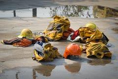 fireman Тренировка пожарного Стоковые Фотографии RF