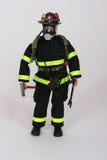 Fireman. Model of fireman in gear stock image