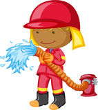 A Fireman. Illustration of A Fireman on white background Stock Images