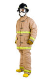 Fireman in his uniform isolated  Royalty Free Stock Photo