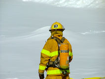 Fireman. Viewed from back royalty free stock image