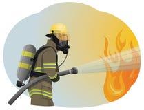 fireman illustrazione di stock